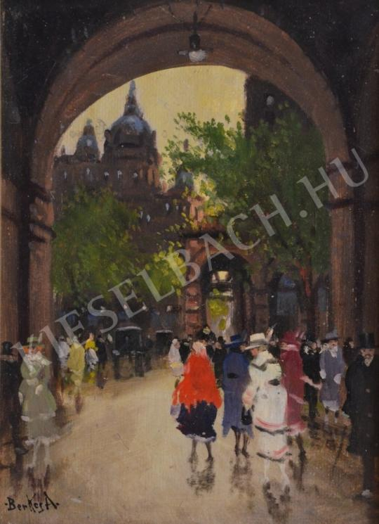 For sale  Berkes, Antal - Port in the City 's painting
