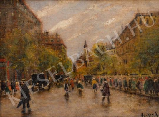 Eladó  Berkes Antal - Budapesti utca festménye
