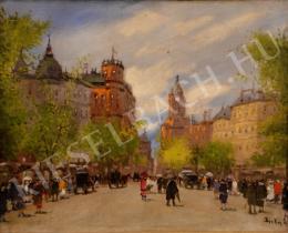 Berkes Antal - Párizsi utcarészlet (1930-as évek)