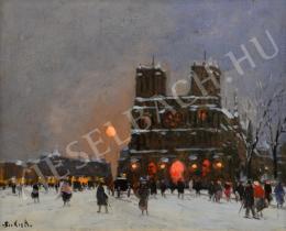 Berkes Antal - Francia gótikus székesegyház téli estén