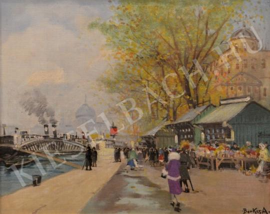 For sale  Berkes, Antal - Market at the Quay 's painting