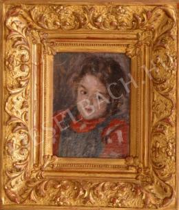 Berkes Antal - Kislány portréja