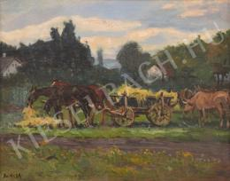 Berkes, Antal - Hay Wagon with horses