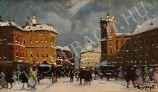 For sale  Berkes, Antal - Winter Streetview 's painting