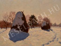 Börtsök Samu - Téli szénaboglyák (1910-es évek)