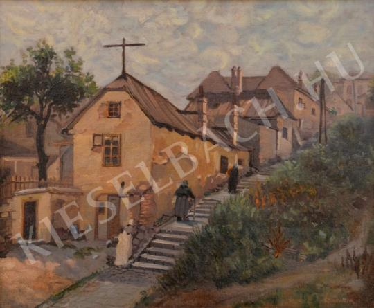 For sale  Hungarian Painter, 20th c. - Stairs 's painting