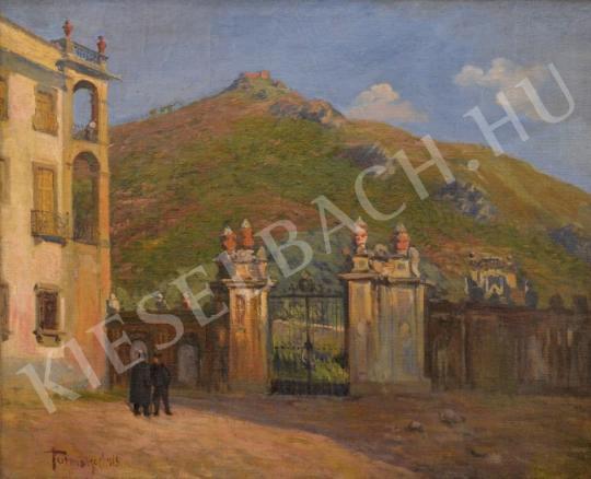 Eladó Turmayer Sándor - Mediterrán kert a vár alatt festménye