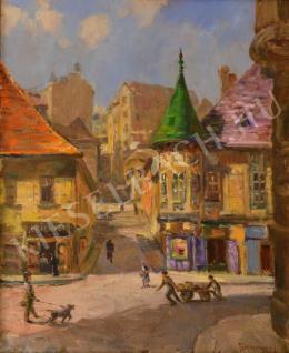 Turmayer Sándor - Utca a Vízivárosban (Pala utca) (1920-as évek)
