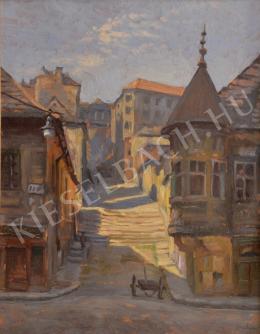 Joachim József - Budai utcarészlet (Pala utca)