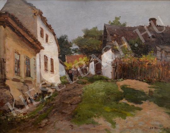 For sale  Szatmári Horváth, Kálmán (Horváth Kálmán) - Falusi utcarészlet 's painting