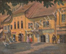 Karczag, Zoltán, - Baroque Houses at Fő Street, Buda (1920s)
