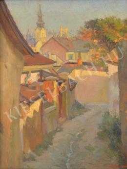 Szász Jenő - Tabáni utca az Erzsébet-híddal
