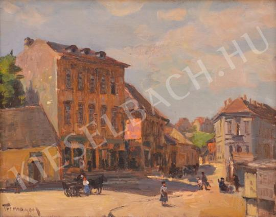 For sale Turmayer, Sándor - Streetview with Horse Carriage 's painting