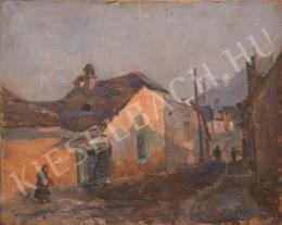 Turmayer Sándor - Szűk utca a Tabánban