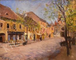 Turmayer Sándor - A budavári Szentháromság utca a Mátyás-templommal (1930-as évek)