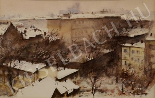 For sale Diósy, Antal (Dióssy Antal) - Snowy Street of Buda 's painting