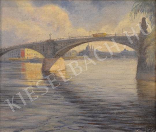 Antal Sándor - Margit-híd a Parlamenttel festménye