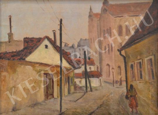 For sale Guzsik, Ödön - Street View in a Provincial Town 's painting