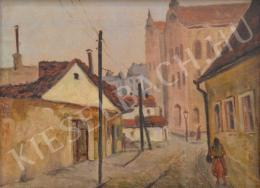 Guzsik, Ödön - Street View in a Provincial Town