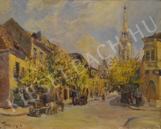 For sale Turmayer, Sándor - Street from Buda 's painting
