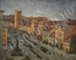 Dede Ernő - Debreceni Piac utca a Csonka toronnyal