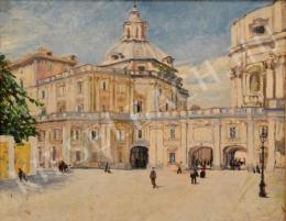 Ismeretlen magyar festő - A vatikáni palota részlete