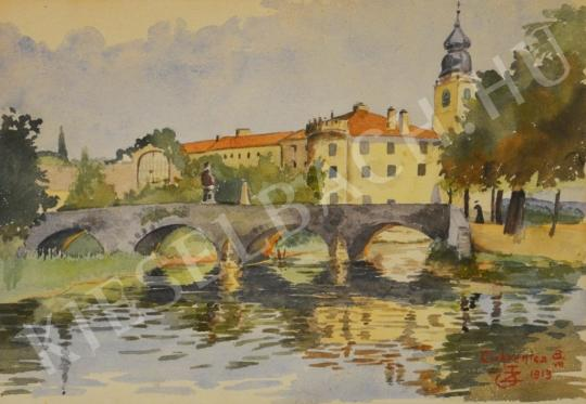 For sale Unknown Hungarian painter - Cirkvenyica - Castle from Croatia 's painting