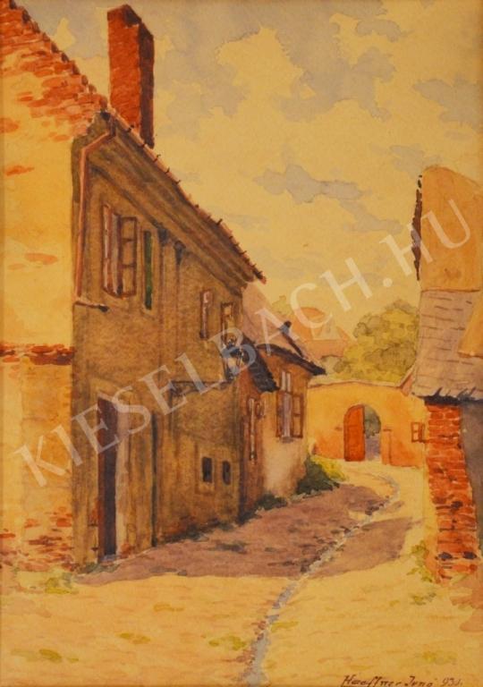 Haeffner, Jenő - Little Street of Buda painting