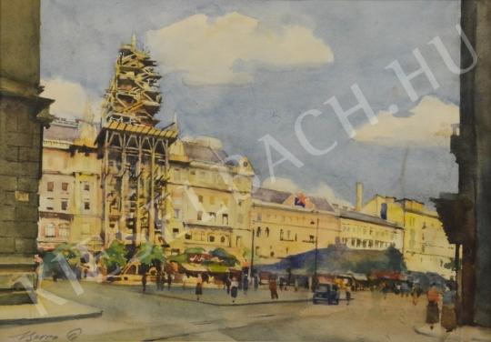For sale Beron, Gyula - The Reconstruction of New York Palace 's painting