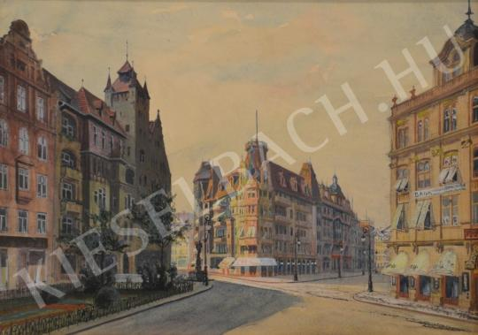 For sale Unknown Hungarian painter - Ideal City 's painting