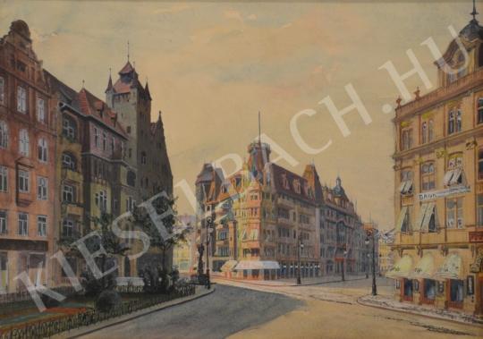 Eladó Ismeretlen magyar festő - Idealizált város festménye