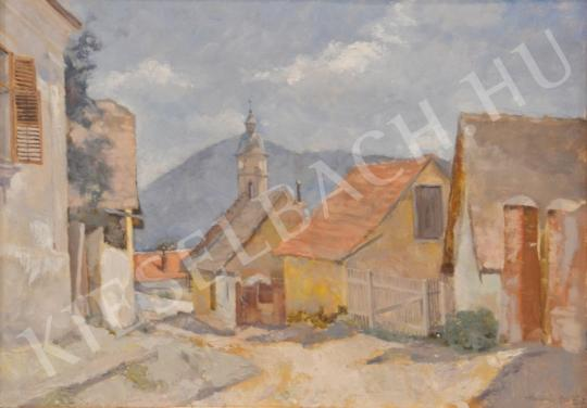 For sale Holba, Tivadar - Street from Nagymaros 's painting