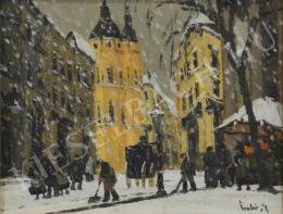 Czakó, Rezső - Snowing at the Chruch (1930s)