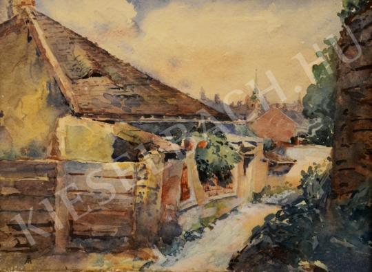 For sale Unknown Hungarian painter - House in the Outskirts 's painting