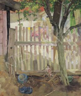 Duray, Tibor - Shadowy-sunlit yard (Szolnok)