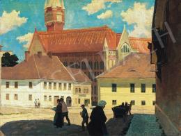 Barkász Lajos - Budavári részlet a századfordulón