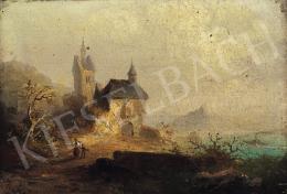 Ismeretlen osztrák festő, 19. század - Romantikus táj