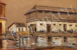Mednyánszky, László - Houses by the Lake (1924)