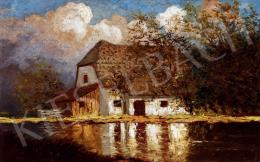 Szepesi Kuszka Jenő - Őszi táj házzal (1914)