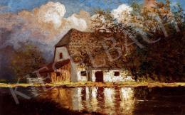 Szepesi Kuszka, Jenő - Autumn Landscape with House (1914)