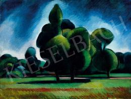 Kmetty, János - Cubist Landscape (Városliget) (c. 1911)