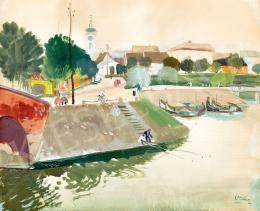 Vadász, Endre - The Danube Bank by Baja (1942)