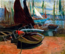 Tibor, Ernő - Port in the Netherlands (Sailing Boats)