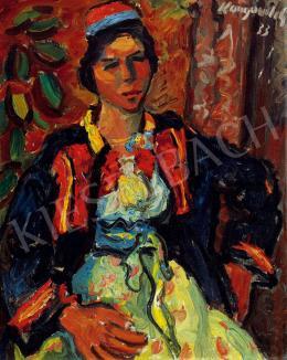 Konjović, Milan - Asszony kendőben (1933)