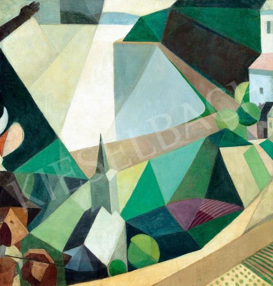 Duray Tibor - Városkép felülnézetből | 43. Aukció aukció / 39 tétel