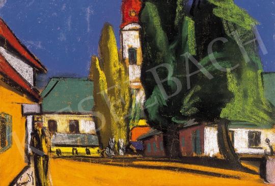 Jándi Dávid - Falusi utca | 16. Aukció aukció / 1 tétel