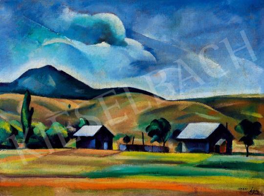 Csabai-Ékes Lajos - Dombos, felhős táj | 43. Aukció aukció / 48 tétel
