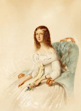 Barabás Miklós - Fiatal hölgy virággal