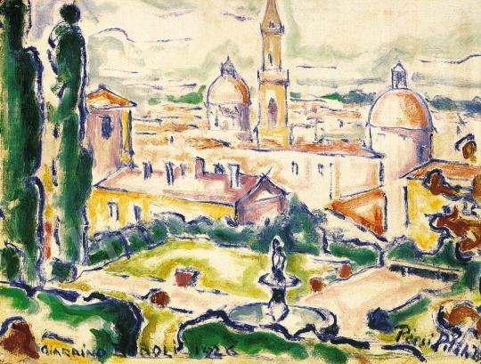 Pécsi-Pilch Dezső - Firenze látképe (Giardino Bobboli) | 16. Aukció aukció / 5 tétel