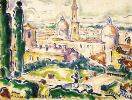 Pécsi-Pilch Dezső - Firenze látképe (Giardino Bobboli)